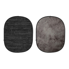 Collapsible Backdrop (Dark Planks/Light Gray) Kit Image 0