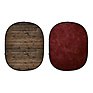 Collapsible Backdrop (Rustic Planks/Red) Kit