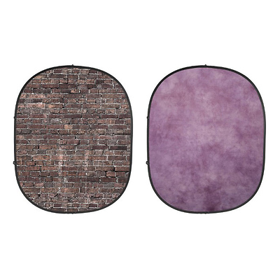 Collapsible Backdrop (Grunge Brick/Purple) kit Image 0
