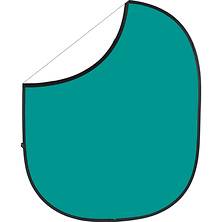 Collapsible/Reversible Background (5 x 6 ft., Teal/White) Image 0