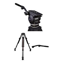 Focus 22 Fluid Head 2-Stage Smart-Stop Aluminum Tripod System Image 0