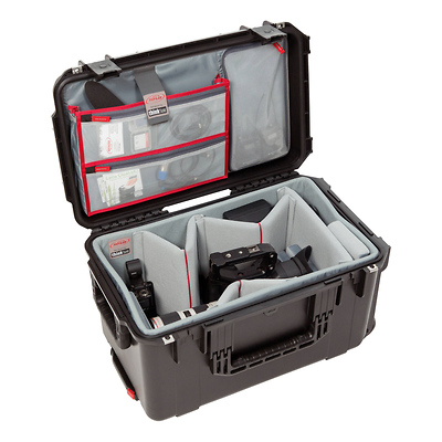 iSeries 2213-12 Case with Think Tank Designed Video Dividers and Lid Organizer (Black) Image 0