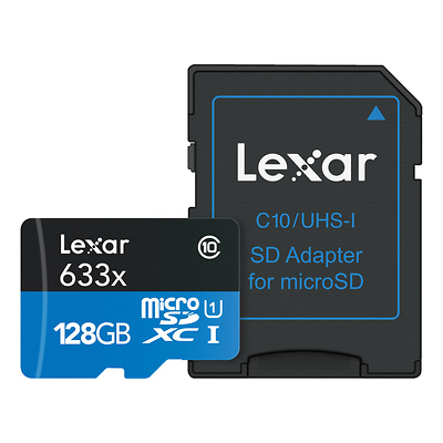 128GB High-Performance UHS-I microSDXC Memory Card with SD Adapter Image 0