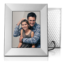 Iris 8 In. Digital Photo Frame (Silver) Image 0