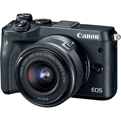 EOS M6 Mirrorless Digital Camera with 15-45mm Lens (Black) Image 0