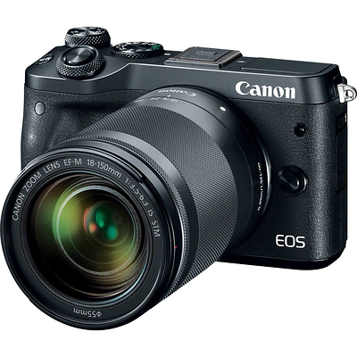EOS M6 Mirrorless Digital Camera with 18-150mm Lens (Black) Image 0