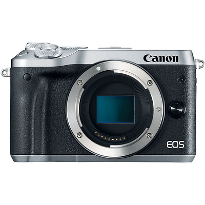 EOS M6 Mirrorless Digital Camera Body (Silver) Image 0