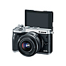 EOS M6 Mirrorless Digital Camera with 15-45mm Lens (Silver) Thumbnail 3