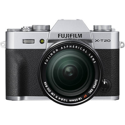 X-T20 Mirrorless Digital Camera with 18-55mm Lens (Silver) Image 0