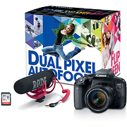 EOS Rebel T7i Digital SLR Camera with 18-55mm Lens Video Creator Kit