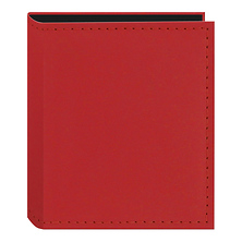 Instant-Print Photo Album with Leatherette Covers - 40 Pockets (Red) Image 0