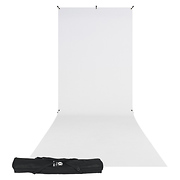 X-Drop Wrinkle-Resistant Backdrop Kit Rich White Sweep (5 x 12 ft.)