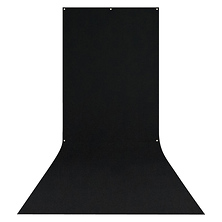 X-Drop Wrinkle-Resistant Backdrop Rich Black Sweep (5 x 12 ft.) Image 0