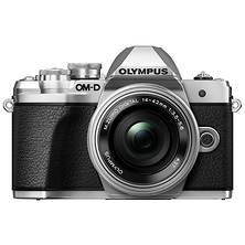 OM-D E-M10 Mark III Mirrorless Micro Four Thirds Digital Camera with 14-42mm Lens (Silver) Image 0