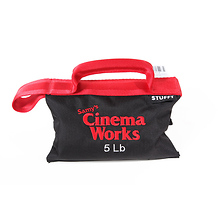 Cinema Works 5 lb Sandbag (Black with Red Handle) Image 0