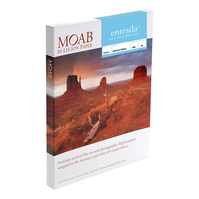 13 x 19 In. Moab Entrada Rag Textured 300 Paper (25 Sheets) Image 0