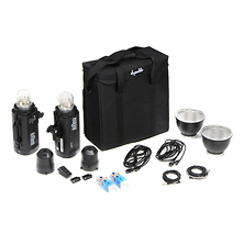 A6-600 Monolight 2-Light Kit with FREE Stands and Umbrellas Image 0