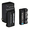 2x NP-F 2200mAh Batteries and Charger Kit
