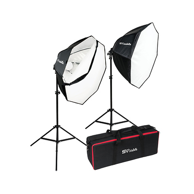 OctaBella 1000W 2-LED Light Softbox Kit Image 0