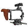 ES-T37A GH5 Handheld Camera Cage Rig with Wooden Handgrip