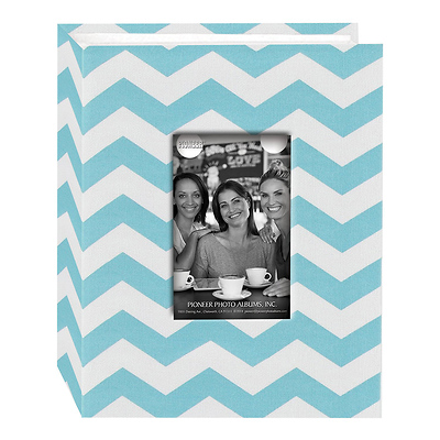 Photo Albums Cloth Album with Frame (Chevron, Aqua) Image 0