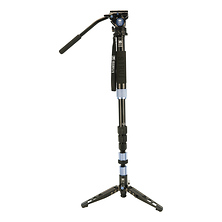 Aluminum 4 Section Monopod with Feet and VA5 Head Image 0