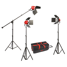 LadyBug 1500 LED 3-Light Kit with Boom Arm Image 0