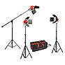 LadyBug 1500 LED 3-Light Kit with Boom Arm