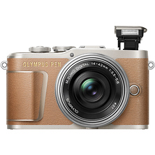 PEN E-PL9 Mirrorless Micro Four Thirds Digital Camera with 14-42mm Lens (Brown) Image 0