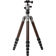 RoadTrip Classic Leather Edition Tripod (Carbon Fiber, Titanium with Brown Leather) Image 0