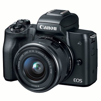 EOS M50 Mirrorless Digital Camera with 15-45mm Lens (Black) Image 0