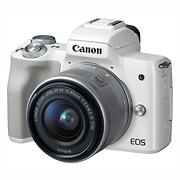 EOS M50 Mirrorless Digital Camera with 15-45mm Lens (White)