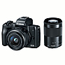 EOS M50 Mirrorless Digital Camera with 15-45mm and 55-200mm Lenses (Black)