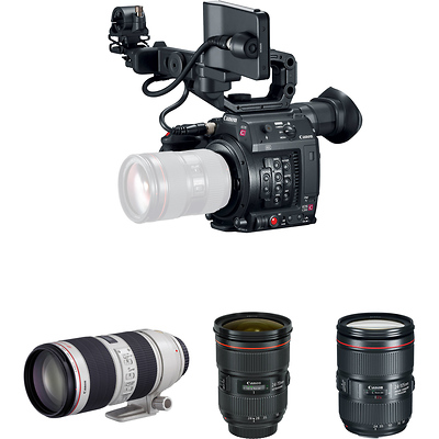 EOS C200 EF Cinema Camera and Triple Lens Kit Image 0