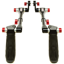 Telescopic Handles with ARRI Rosettes (Black & Red) Image 0
