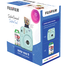 Fuji INSTAX Mini 9 Holiday Bundle (Ice Blue) Image