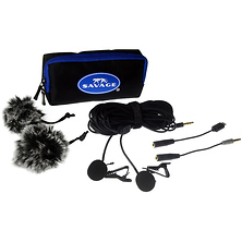 Dual Head Lapel Microphone Image 0
