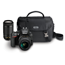 D3500 Digital SLR Camera with 18-55mm and 70-300mm Lenses (Black) Image 0