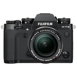 Fuji X-T3 Mirrorless Digital Camera with 18-55mm Lens (Black) Image