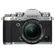 X-T3 Mirrorless Digital Camera with 18-55mm Lens (Silver)