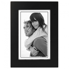 4 x 6 in. Classic Linear Wood Picture Frame (Black) Image 0