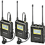 UWMIC9 RX9 + TX9 + TX9, 96-Channel Digital UHF Wireless Dual Lavalier Mic System (514 to 596 MHz)