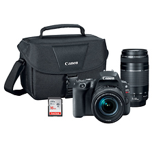 EOS Rebel SL2 Digital SLR Camera with 18-55mm and 75-300mm Lenses Kit (Black) Image 0
