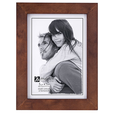 5 x 7 in. Stone Washed Picture Frame (Walnut) Image 0