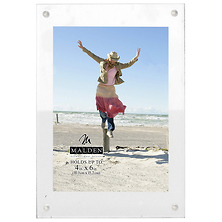 4 x 6 in. Infinity Wood Block with Magnetic Acrylic Front Picture Frame (White) Image 0
