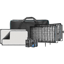 Flex Cine DMX Bi-Color LED Mat Two-Light Fixture Kit (1 x 2 ft.) Image 0