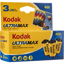 UltraMax 400 Color Negative Film (35mm Roll Film, 36 Exposures, 3-Pack) Image 0