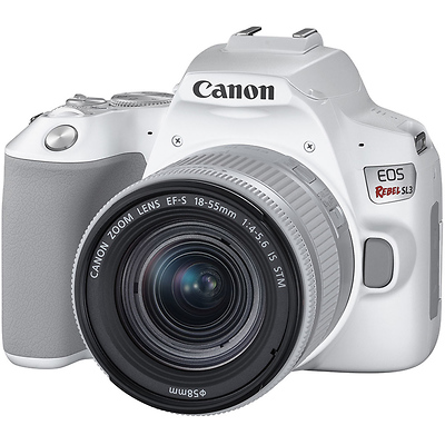 EOS Rebel SL3 Digital SLR with EF-S 18-55mm f/4-5.6 IS STM Lens (White) Image 0