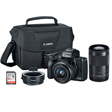 EOS M50 Mirrorless Digital Camera with 15-45mm and 55-200mm Lenses Kit (Black) Image 0