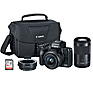EOS M50 Mirrorless Digital Camera with 15-45mm and 55-200mm Lenses Kit (Black)